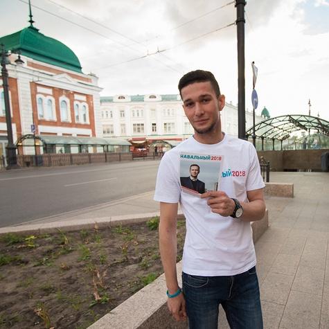Раздаем листовки на ул. Ленина