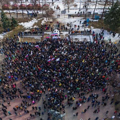 Митинг 26 марта на пл. Маркина