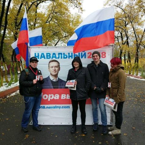 Первый снег и первый агитационный куб в городе Прокопьевск