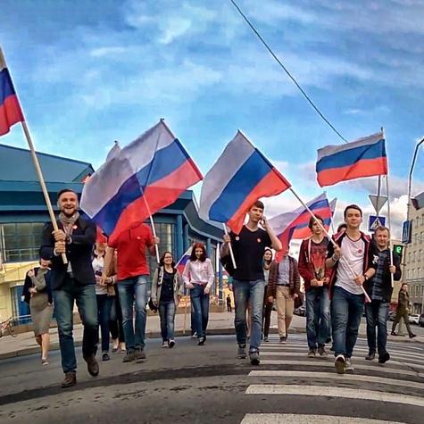 Прогулка с флагами