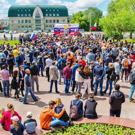 Митинг 12 июня в Барнауле - пришло около 1000 человек
