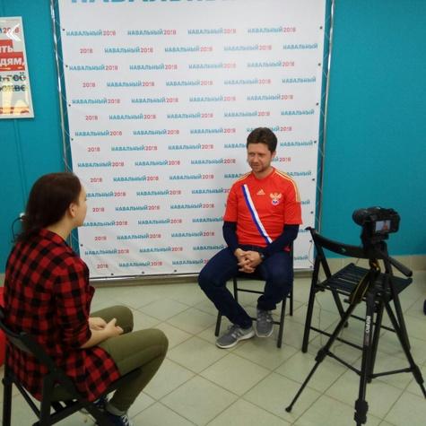 Съемки интервью с волонтёрами